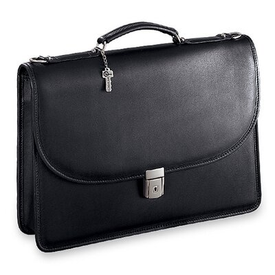 Jack Georges Platinum Single Gusset Flap Briefcase with Open Back