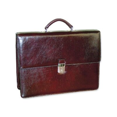 Jack Georges Sienna Double Gusset Flap Over Briefcase