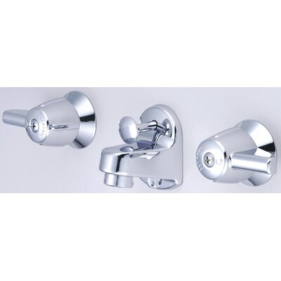 Central Brass Wall Mounted Bathroom Sink Faucet with Double Lever Handles