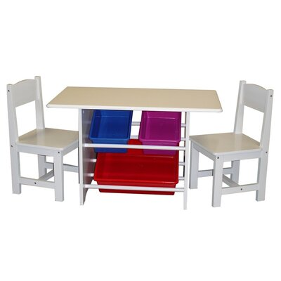 RiverRidge Home Products Kids 3 Piece Table and Chair Set