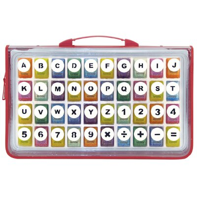 ECR4kids 40 Alphabet & Number Kraft Punches in Zipper Case