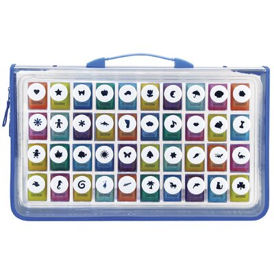 ECR4kids 40 Shape Kraft Punches in Zipper Case