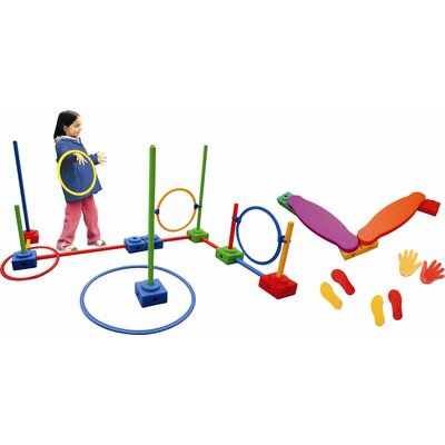 ECR4kids 62 Pieces Agility Play Set
