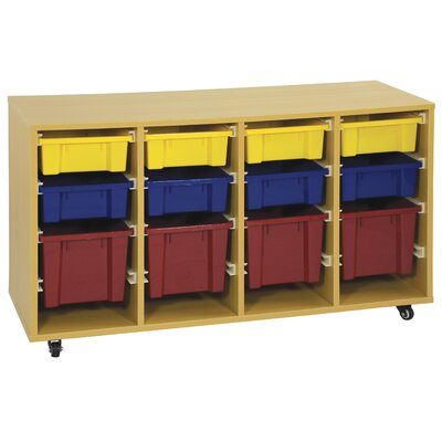 ECR4kids Storage Trolley with 12 Trays