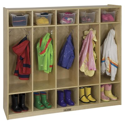 ECR4kids 5 Section Coat Locker