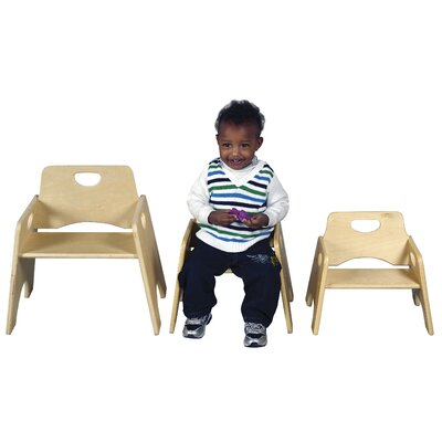 ECR4kids Wooden Kid's Seat (Set of 2)