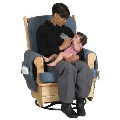 ECR4kids Glider Rocker with Metal Swivel Base