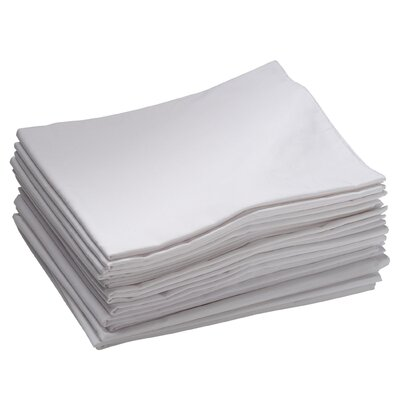 ECR4kids 12 Pack Toddler Cot Sheets in White