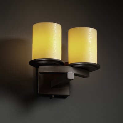 Justice Design Group CandleAria Dakota 2 Light Wall Sconce
