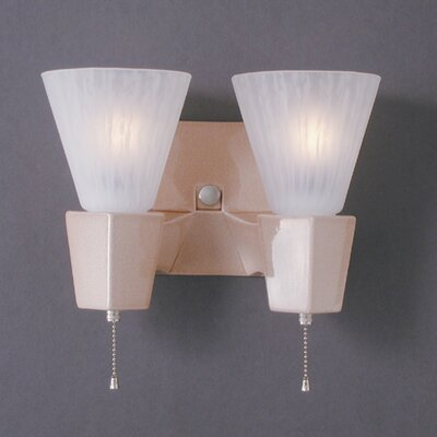 Euro Classics Geo Rectangular Double-Arm Wall Sconce