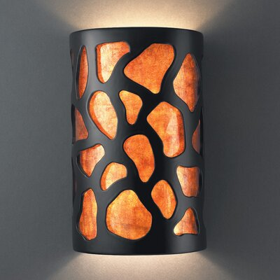 Ambiance Open Top and Bottom Large Cobblestones Wall Sconce
