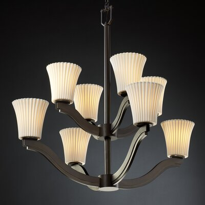 Justice Design Group Bend Limoges 8 Light Chandelier