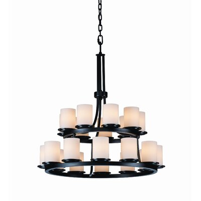 Justice Design Group Dakota Fusion 21 Light Chandelier