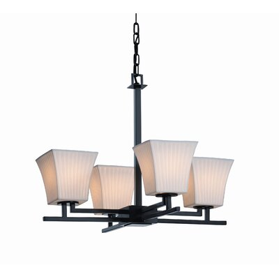 Justice Design Group Aero LumenAria 4 Light Chandelier