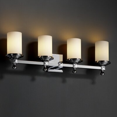 Justice Design Group Fusion Deco 4 Light Bath Vanity Light