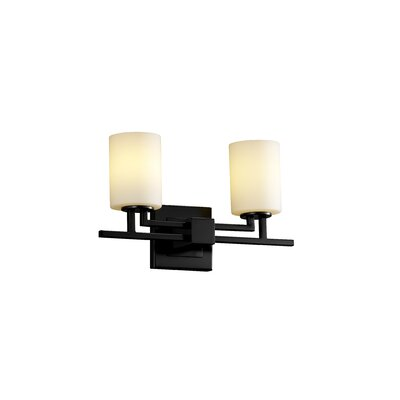 Justice Design Group Fusion Aero 2 Light Bath Vanity Light