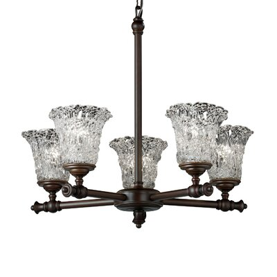 Veneto Luce Tradition 5 Light Chandelier
