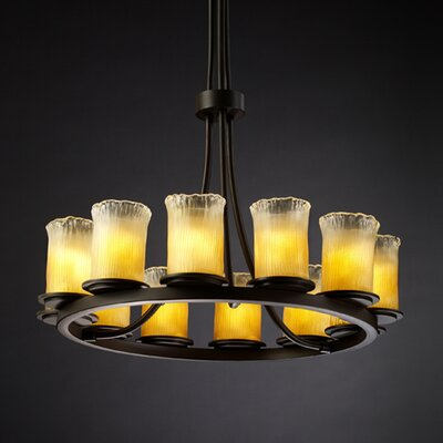 Veneto Luce Dakota 12 Light Chandelier with Additional Chain