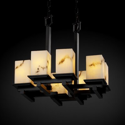 Justice Design Group LumenAria Montana 8 Light Chandelier