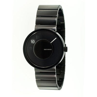Issey Miyake Vue Yves Behar Watch with Black Metal Band