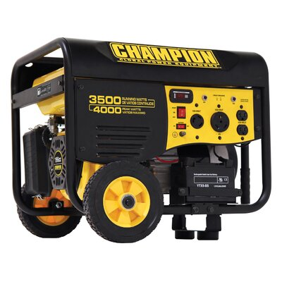 3,500 Watt Portable Generator with Remote Start - 46565