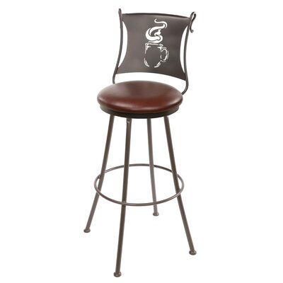 "Stone County Ironworks Coffee Cup 30"" Swivel Barstool"