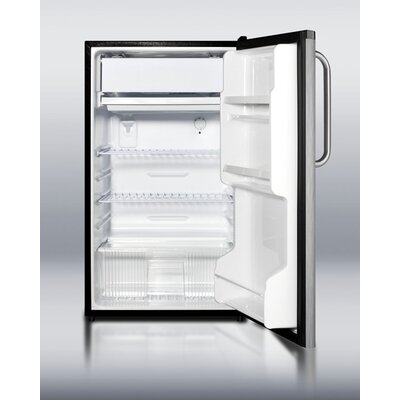 Summit Appliance Refrigerator Freezer in Black