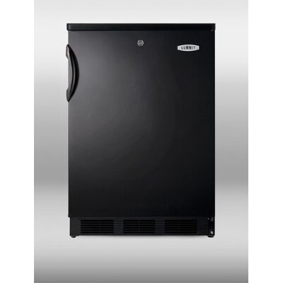 "Summit Appliance 33.5"" x 23.63"" Refrigerator in Black"