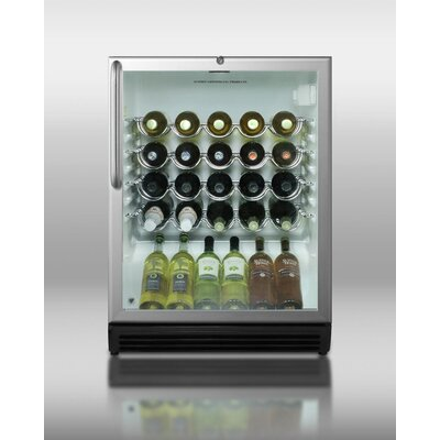 Summit Appliance Wine Cellar with Scalloped Steel Shelving in Black