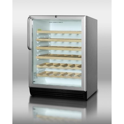 Summit Appliance Wine Cellar with Interior Light in Stainless Steel