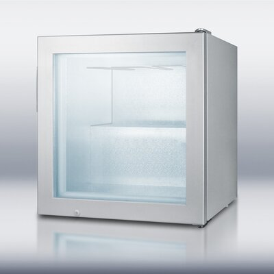 Summit Appliance Compact Glass Door Vodka Freezer in Gray