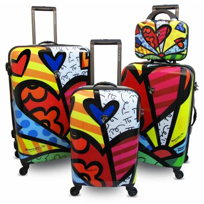 Britto Collection By Heys USA 4 Piece Spinner Luggage Set