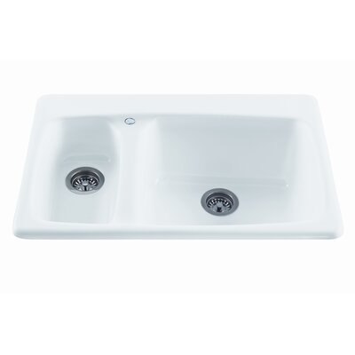 "Reliance Whirlpools Reliance 33"" x 22.25"" Advantage Double Bowl Kitchen Sink"