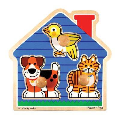 Melissa and Doug House Pets Jumbo Wooden Knob Puzzle