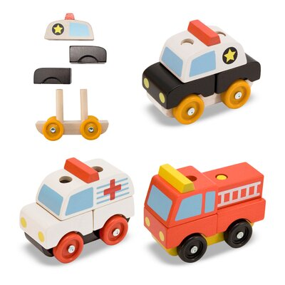 Melissa and Doug Stacking Emergency Vehicles