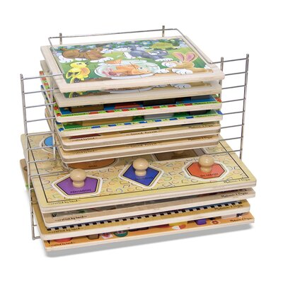 Melissa and Doug Deluxe Wire Puzzle Rack