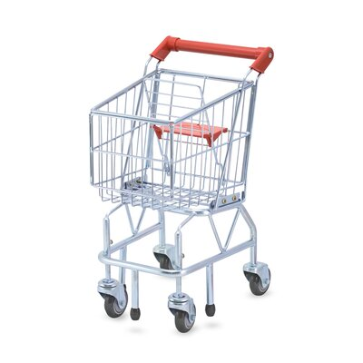 Melissa and Doug Shopping Cart Toy - Metal Grocery Wagon