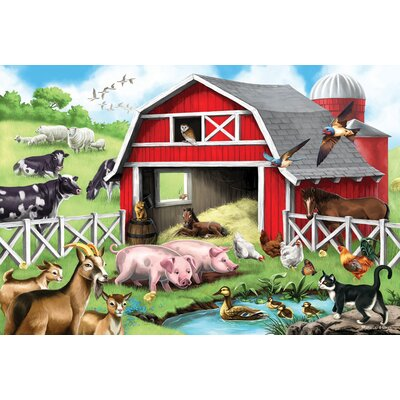 Melissa and Doug 24-pieces Farm Friends Floor Set