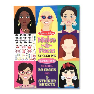 Melissa and Doug Make-a-Face Fashion Faces Sticker Pad