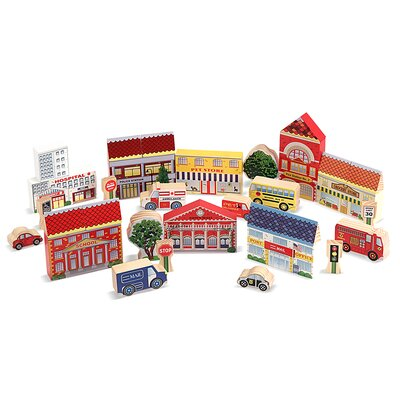 Melissa and Doug Town Blocks Play Set