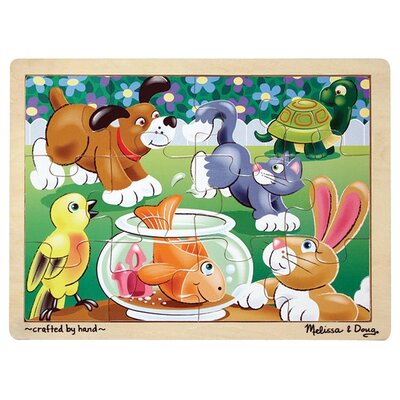 Melissa and Doug Playful Pets Wooden Jigsaw Puzzle