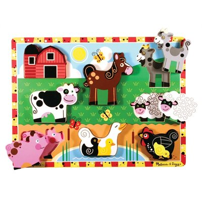 Melissa and Doug Farm Chunky Wooden Puzzle