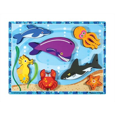 Melissa and Doug Sea Creatures Chunky Wooden Puzzle