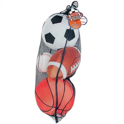 Melissa and Doug Plush Sports Balls in a Mesh Bag