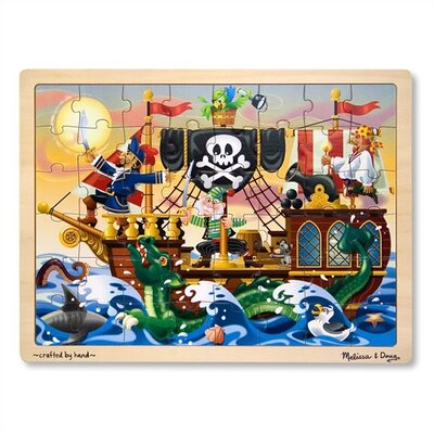 Melissa and Doug Pirate Adventure Wooden Jigsaw Puzzle