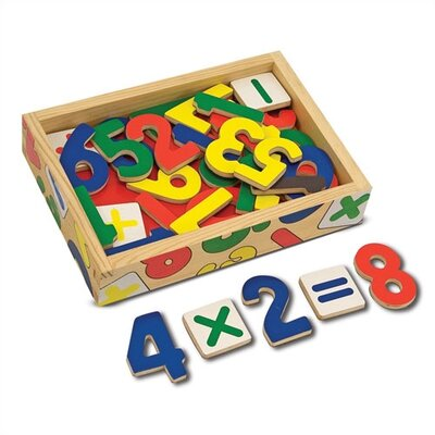 Melissa and Doug Magnetic Wooden Numbers in a Box