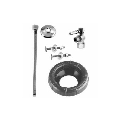 Westbrass Ball Valve Toilet Kit and Wax Ring with Lever Handle