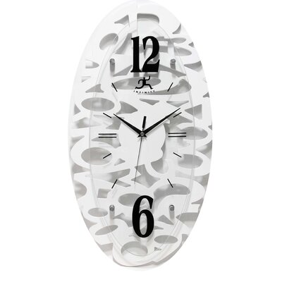 Infinity Instruments Whimsy Wall Clock in White