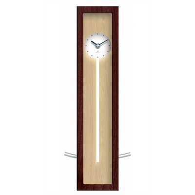 Infinity Instruments Illusion Wood Pendulum Wall or Table Clock In Walnut