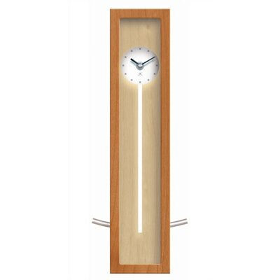 Infinity Instruments Illusion Wood Pendulum Wall or Table Clock In Natural